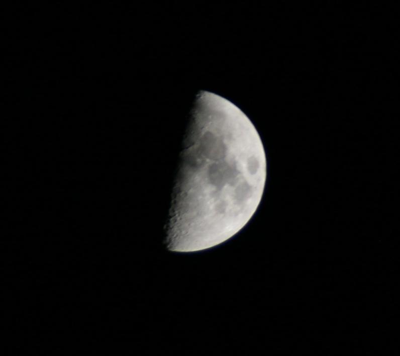 今夜は上弦の月〜♪